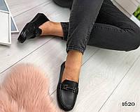 """Туфли женские """"Paris"""" черного цвета из НАТУРАЛЬНОЙ КОЖИ. Сабо женские. Лоферы женские"""