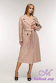 Пальто жіноче демісезонне великі розміри (р. 44-54) арт. 1194 10 Тон