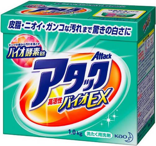 """Высокоэффективный стиральный порошок КAO """"Attack'' Bio EX с цветочно-травяным ароматом 1 кг (365545), фото 2"""