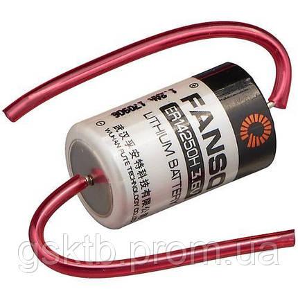Литиевая батарея ER14250H-P, 1/2 AA Size 3,6В 1200 мАч, Li-SOCl2, с осевыми выводами, фото 2