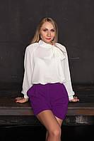 Короткие шорты фиолетовые