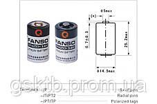 Литиевая батарея ER14250H-P, 1/2 AA Size 3,6В 1200 мАч, Li-SOCl2, с осевыми выводами, фото 3
