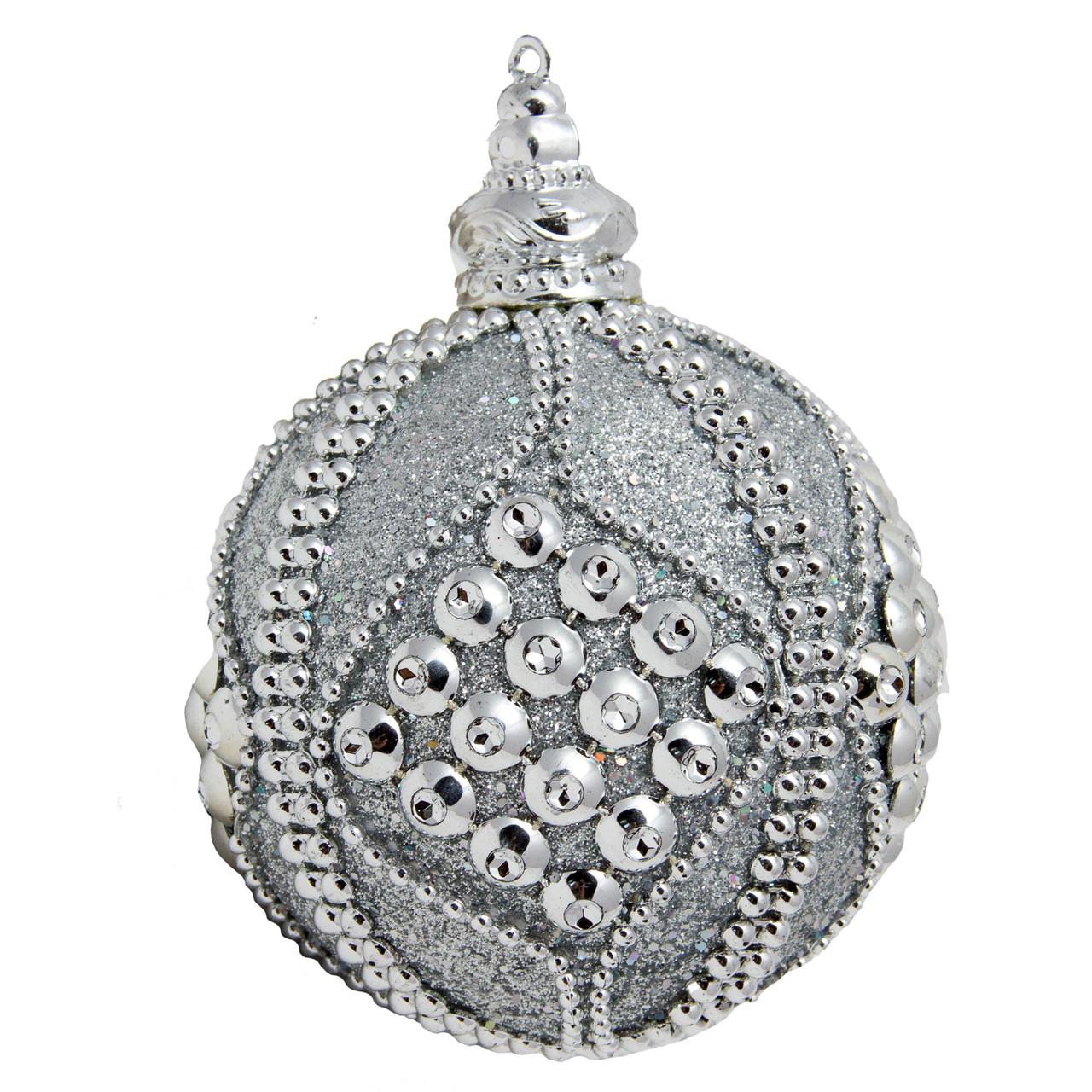 Елочное украшение в форме шара, серебро (661435-1)