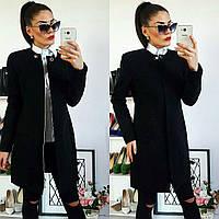 Утеплённое кашемировое женское пальто, арт 739/2, цвет черный
