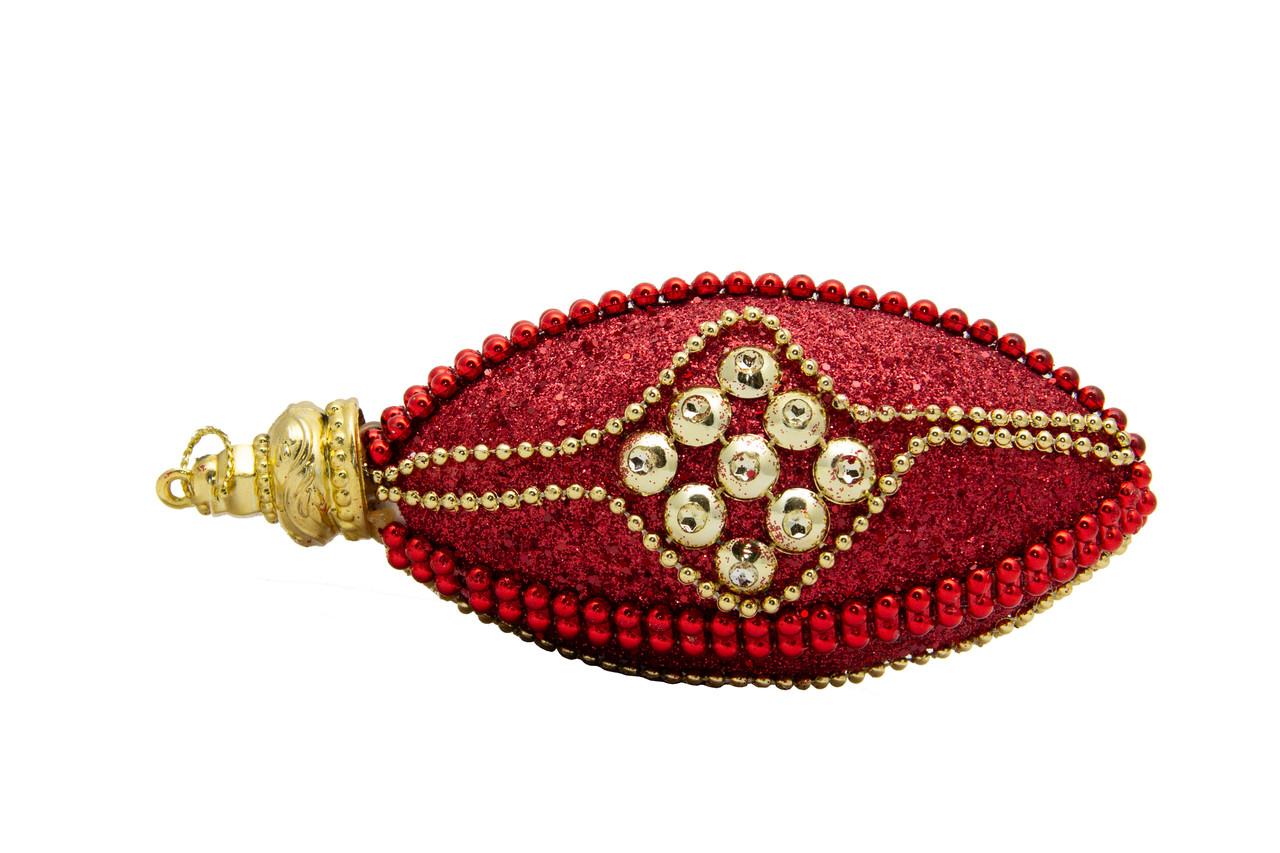 Елочное украшение в форме оливы, красный (661435-11)