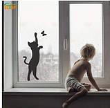 """Декоративная наклейка """"Кот с бабочкой"""" - 59*22,5см, фото 3"""