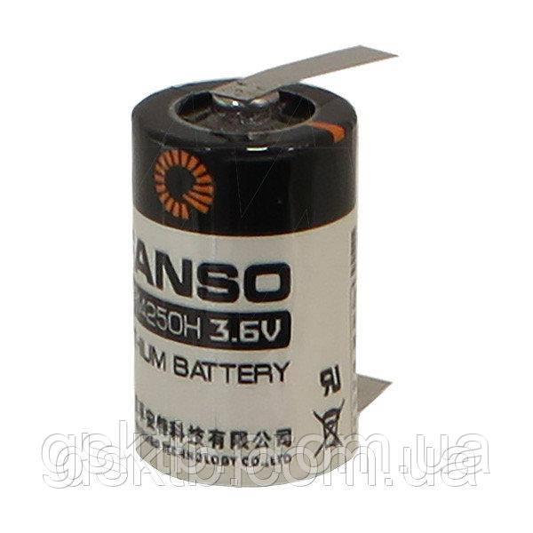 Литиевая батарея ER14250H-T, 1/2 AA Size 3,6В 1200 мАч, Li-SOCl2, с лепестками