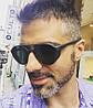 Мужские солнцезащитные очки с шорами и перфорацией, оправа черный цвет, матовый пластик