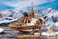 Деревянный конструктор-пазлы судно «Буксир», фото 1