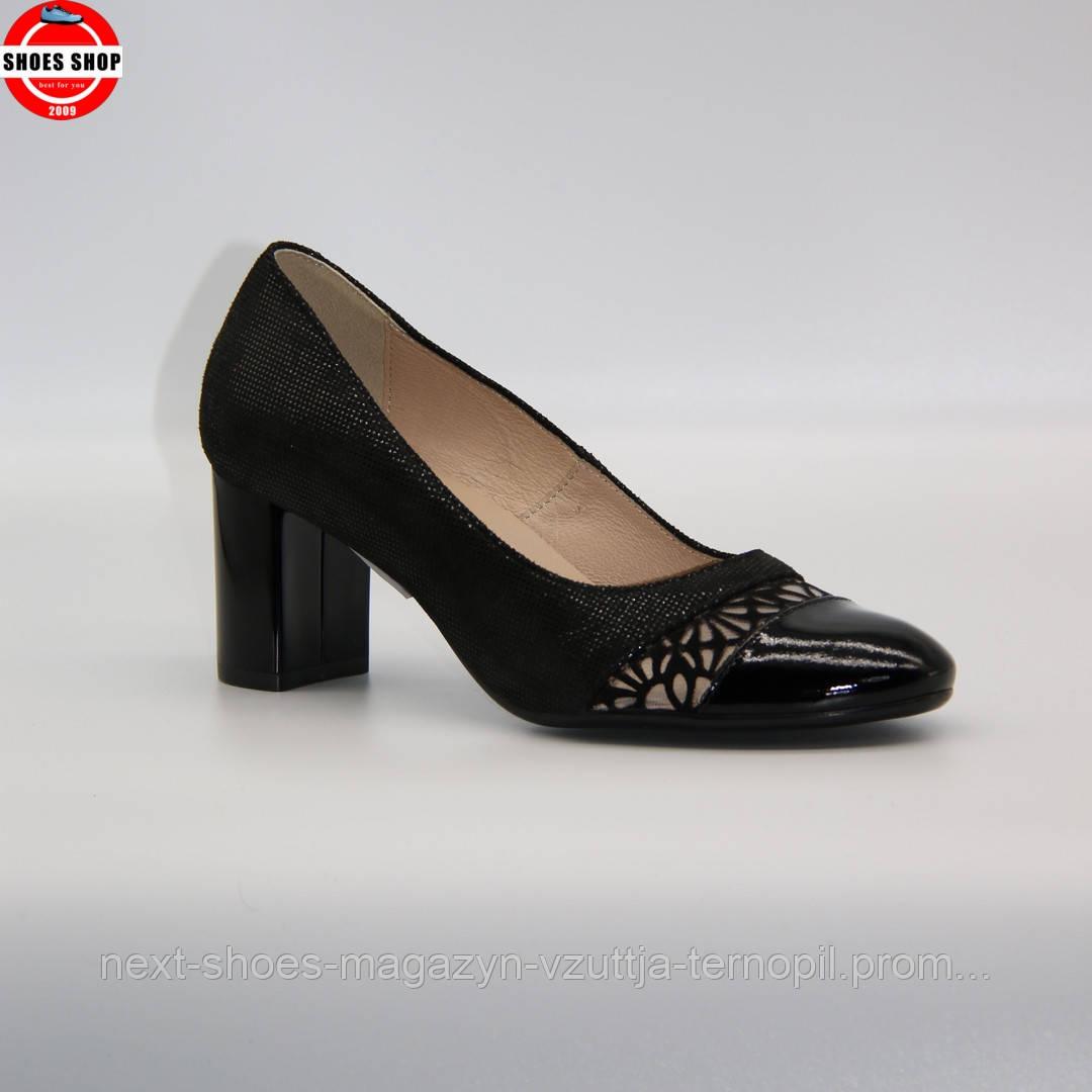 Жіночі туфлі Marco (Польща) чорного кольору. Красиві та комфортні. Стиль: Меггі Грейс