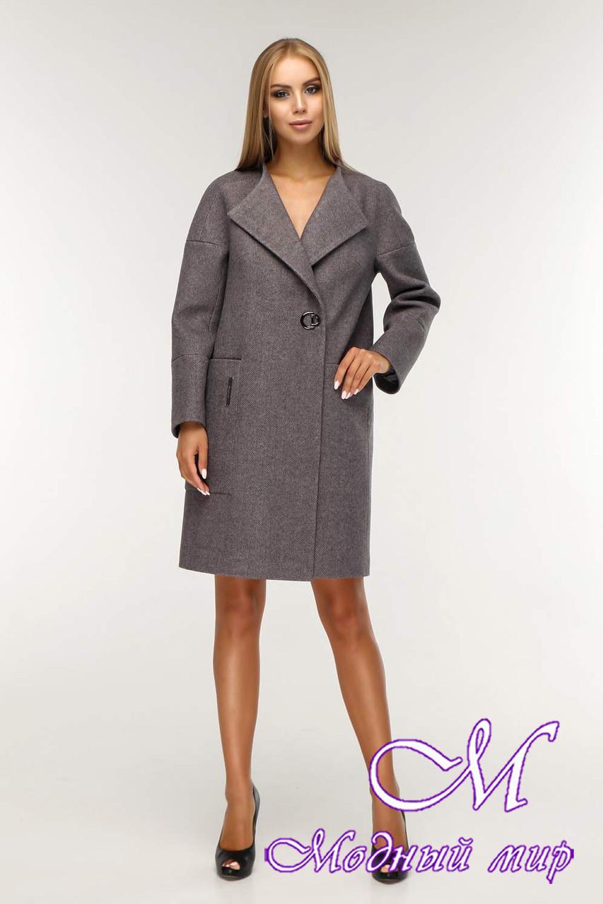 Женское свободное демисезонное пальто (р. 44-58) арт. 1204 Тон 24