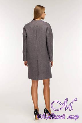 Женское свободное демисезонное пальто (р. 44-58) арт. 1204 Тон 24, фото 2