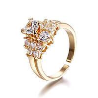 """Кольцо """"Sophie Careau"""" позолоченное с кристаллами swarovski"""