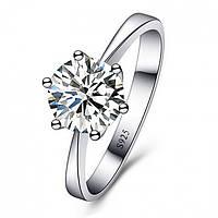 "Кольцо ""Benetton 925"" покрытие серебро с кристаллами swarovski"