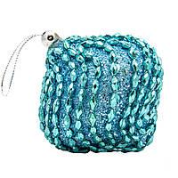 Елочное украшение в форме луковицы, голубой (661473-8)