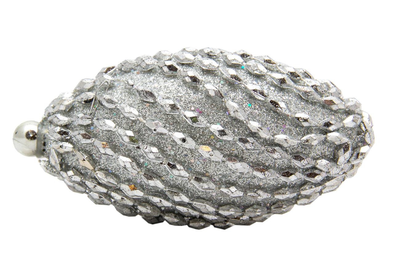 Елочное украшение в форме оливы, серебро (661473-9)