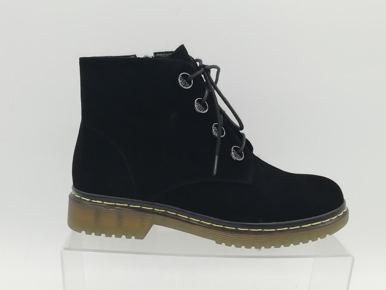 Черные  ботиночки  ERISSES. Маленькие размеры (33 - 35).