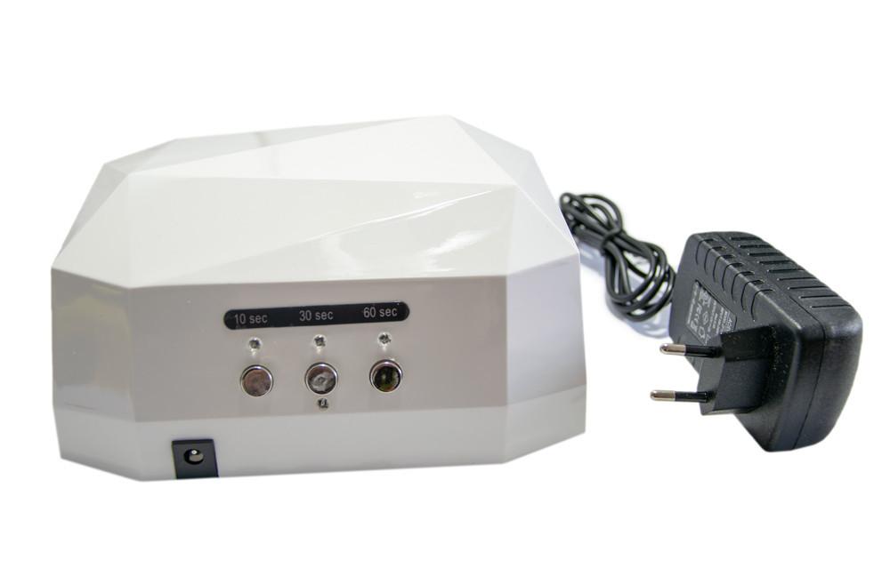 Ультрафиолетовая лампа, цвет - Белый, 36 Вт. Beauty nail CCF + LED, сушилка для ногтей, лед лампа