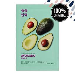 Тканевая маска для лица с экстрактом авокадо HOLIKA HOLIKA Pure Essence Mask Sheet Avocado
