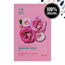 Тканевая маска для лица с маслом дамасской розы HOLIKA HOLIKA Pure Essence Mask Sheet Damaskrose