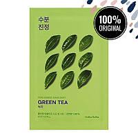 Тканевая маска для лица с экстрактом зеленого чая HOLIKA HOLIKA Pure Essence Mask Sheet Greentea