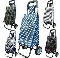 Небольшая сумка-тележка на резиновых колёсах