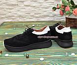 Кроссовки женские на утолщенной подошве, цвет черный/белый, фото 2
