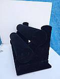 Подставка двухъярусная бархатная для браслетов и часов, фото 2