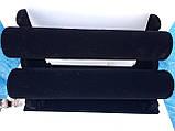 Подставка двухъярусная бархатная для браслетов и часов, фото 3