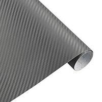 Карбоновая плёнка серая 3D 127 х 30 см (z05242)
