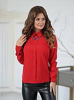 Блуза жіноча червона з прикрасою