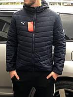 Куртка мужская стеганая Puma черного цвета с капюшоном