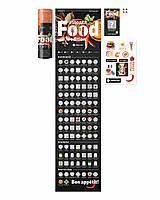 Скретч-плакат постер на стену 100 дел Food Edition