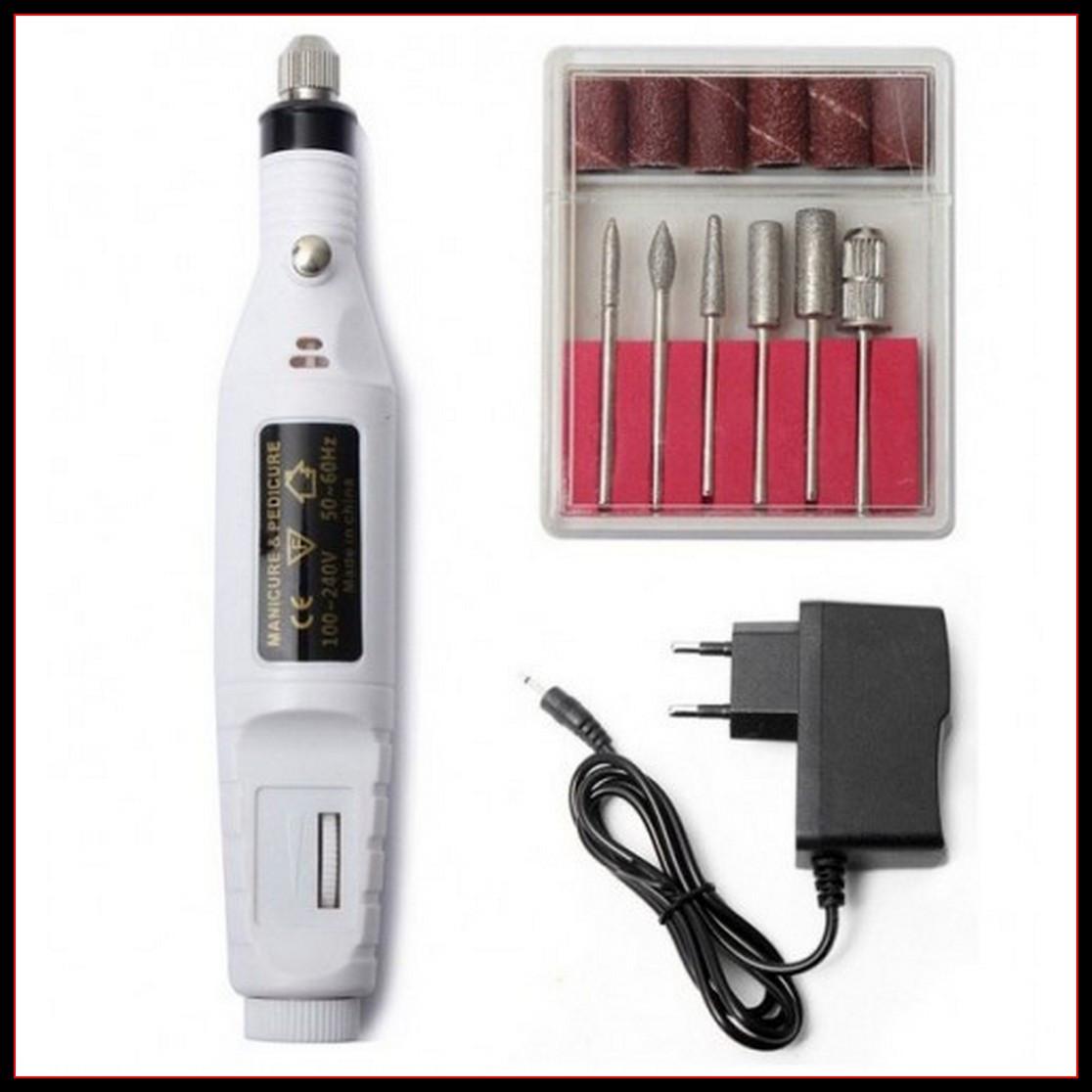 Машинка для маникюра и педикюра 6 в 1, фрезер ручка белый цвет