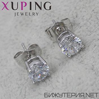 Серьги Xuping медицинское золото Silver - 1029213768