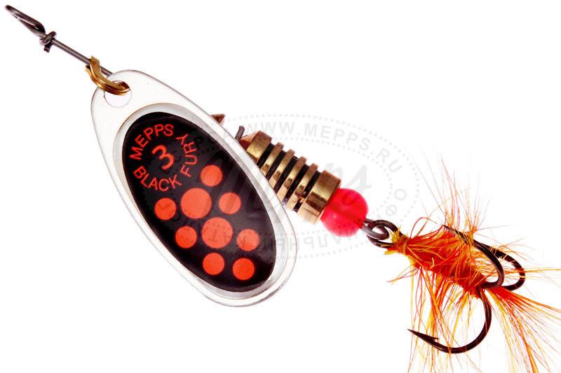 Блесна Mepps Black Fury Mouche silver/orange 3  6.5гр (30472 003)