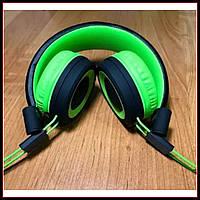 Наушники накладные с микрофоном Yison HP-163 черно-зеленые