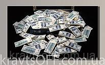 "Картина на холсте "" Доллары 2  '' ( 32x54 см )"