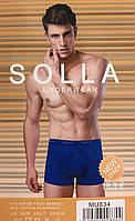 Трусы мужские боксёры хлопок + бамбук SOLLA размер L-3XL(48-54)  MU834