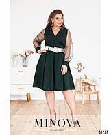 Романтичное женское платье с клешной юбкой Костюмка Размер 50 52 54 56 58 60 В наличии 3 цвета, фото 1
