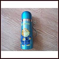 Детский термос для напитков и чая с клапаном ZooTopiA 500 ml кот