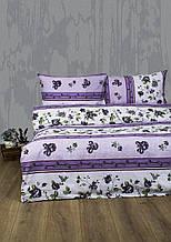 Постельное белье Lotus Ranforce Delmare лиловое семейного размера