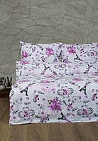 Постельное белье Lotus Ranforce Emily розовое семейного размера
