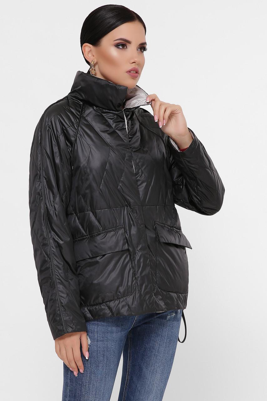 Куртка стильная женская демисезонная с капюшономукороченная размер 42-50