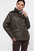 Куртка стильная женская демисезонная с капюшономукороченная размер 42-50, фото 3