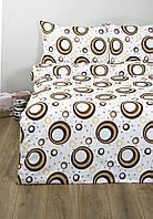 Постельное белье Lotus Ranforce Indi кофейное семейного размера
