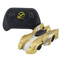 Радиоуправляемая игрушка CLIMBER WALL RACER Антигравитационная машинка Золото (РК-46365)