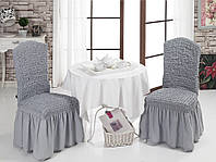 Чехол на стул с юбкой Серый Home Collection Evibu Турция 50068