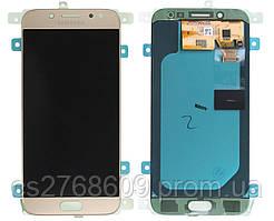 "LCD Samsung J530, J5 2017 + Touchscreen (gold) ""High Copy"" + підсвітка"