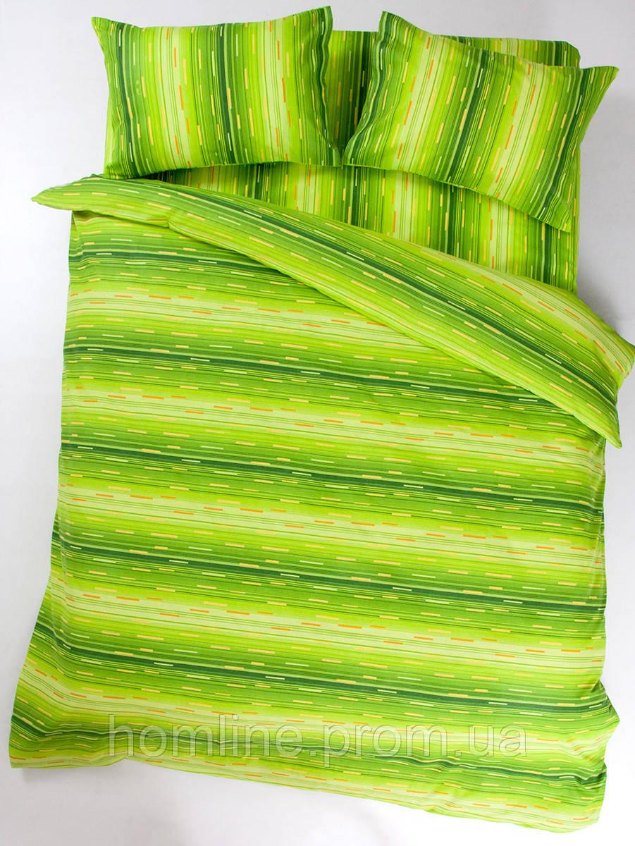 Постельное белье Lotus Ranforce Metropolis зеленый семейного размера